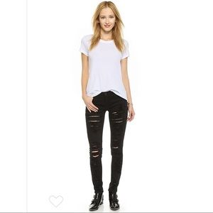 Blank NYC Ripped Distressed Black Skinny Jeans 28